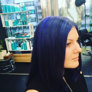 Blue highlights